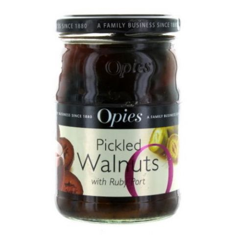 Opies Pickled Walnuts With Ruby Port 370g